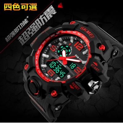 美國熊日本機心多功能電子手錶運動防水LED錶