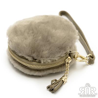 2R-SNOW澳洲羊毛暖心包-灰杏