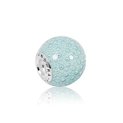 Pandora 潘朵拉 水滴圓點冥想藍色琺瑯純銀墜飾 串珠