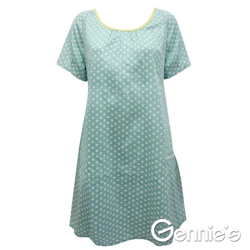 【Gennie's奇妮】 甜心蝴蝶結點點可愛春夏孕婦洋裝 (G1524)