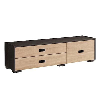 品家居 里多尼5尺木紋雙色伸縮長櫃/電視櫃-150x39.8x43.5cm免組