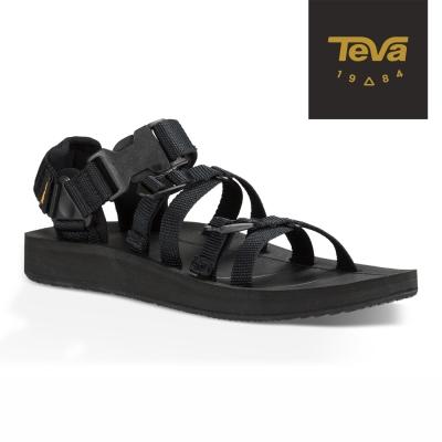 TEVA 原廠貨 男 Alp 經典設計織帶涼鞋/雨鞋/水鞋 (黑色)
