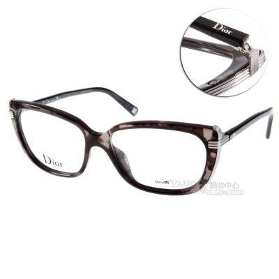 DIOR眼鏡 金屬邊框貓眼款/深黑琥珀 #CD3228 XKS