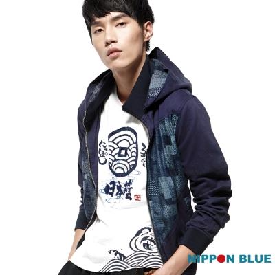 日本藍 BLUE WAY 日本藍和柄連帽外套