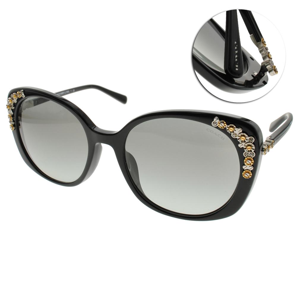 COACH太陽眼鏡 復古女伶/黑#COS8186F 500211 @ Y!購物