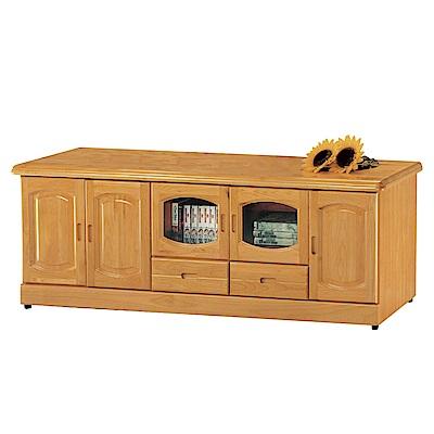 品家居 瑪爾6尺赤楊木實木長櫃/電視櫃-179.5x50x64cm免組