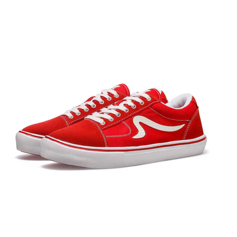 【ZEPRO】男子STACKS DX系列輕量休閒鞋-復古紅