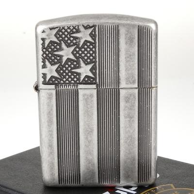 【ZIPPO】美系~U.S. Flag-美國國旗圖案深刻打火機(ARMOR裝甲)