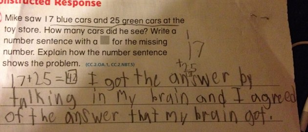 This second grader's revenge against Common Core math will make your day