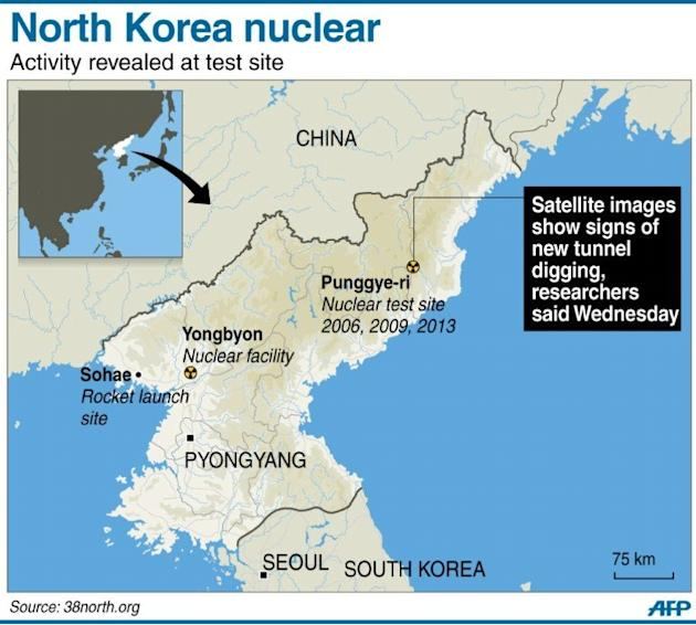 Graphic Site Map: Graphic Map Locating North Korea's Punggye-ri Nuclear Test