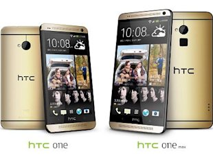 歲末佳節正是禮品銷售旺季,宏達電今日推出HTC One琥珀金32GB版本與HTC One max琥珀金16GB版本。(圖:宏達電提供)