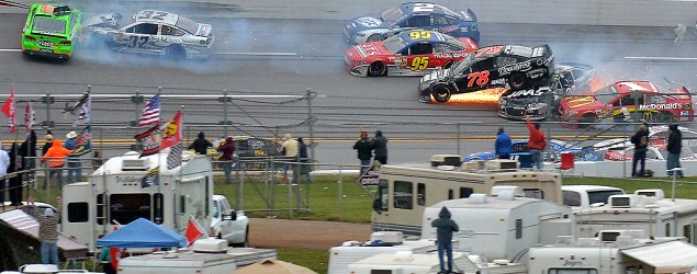 Spectacular wreck at Talladega has NASCAR drivers fuming (Getty Images)