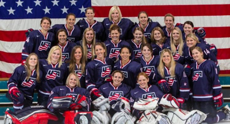 u s women s hockey team scrimmaging against high school boys